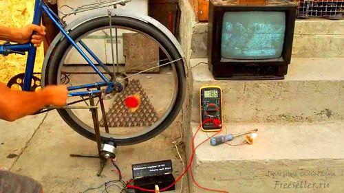 Генератор на 220 вольт из велосипеда