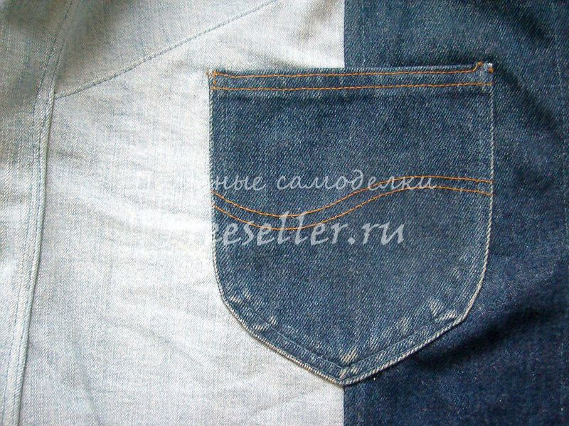 Жилет из джинсов