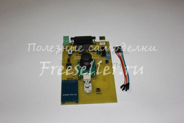 Автономный контроллер для управление 3-х осевым ЧПУ без компьютера, считывание G-кода с SD карты