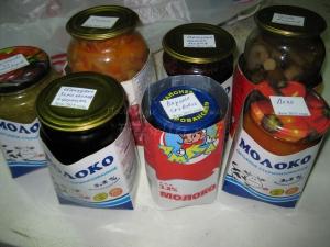 Упаковка для безопасной перевозки домашних консервов