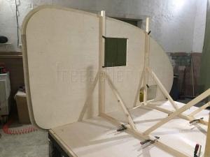 Изготовление прицепа Капля своими руками - Сборка стен