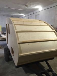 Изготовление прицепа Капля своими руками - Крыша