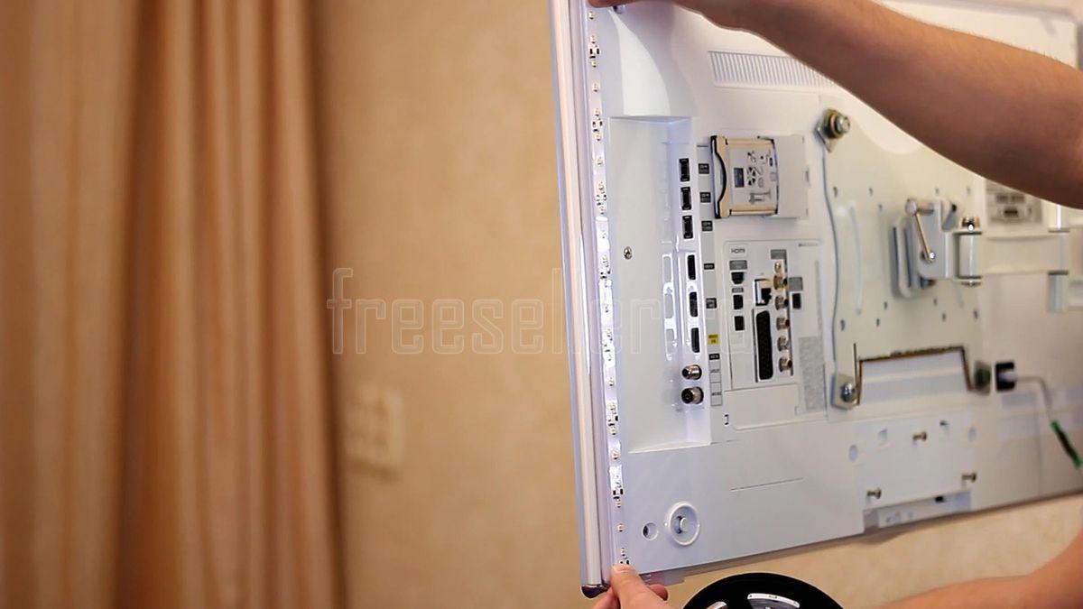 Самодельная фоновая подсветка телевизора от USB 53