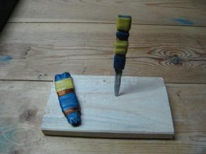 Самодельный нож из ножовочного полотна