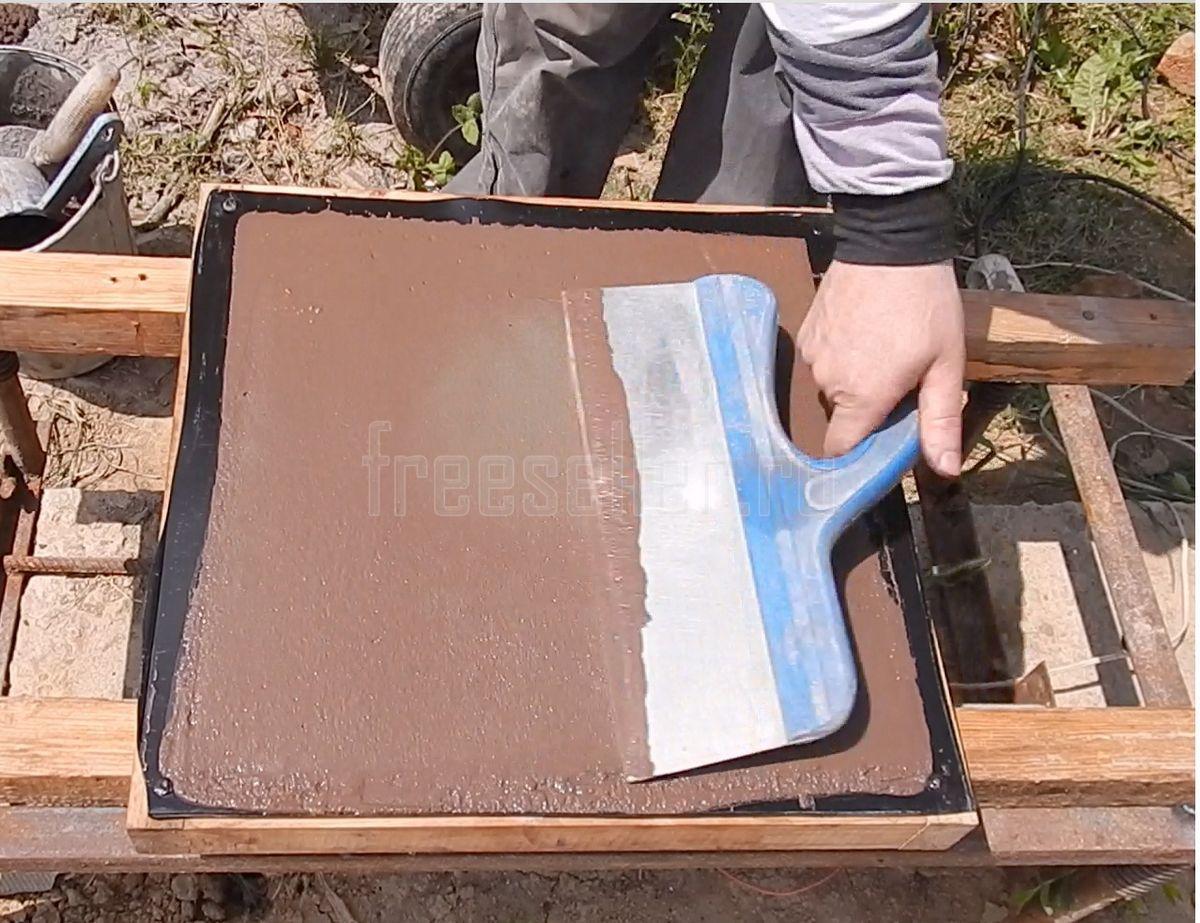 Изготовление тротуарной плитки своими руками без вибростола 99