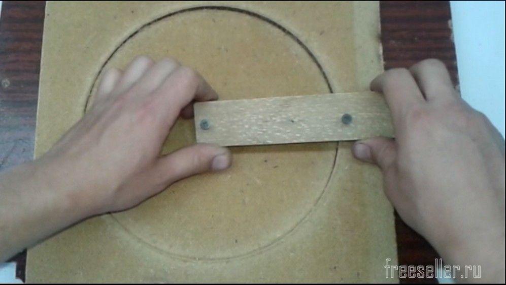 Как сделать круг на дереве 541