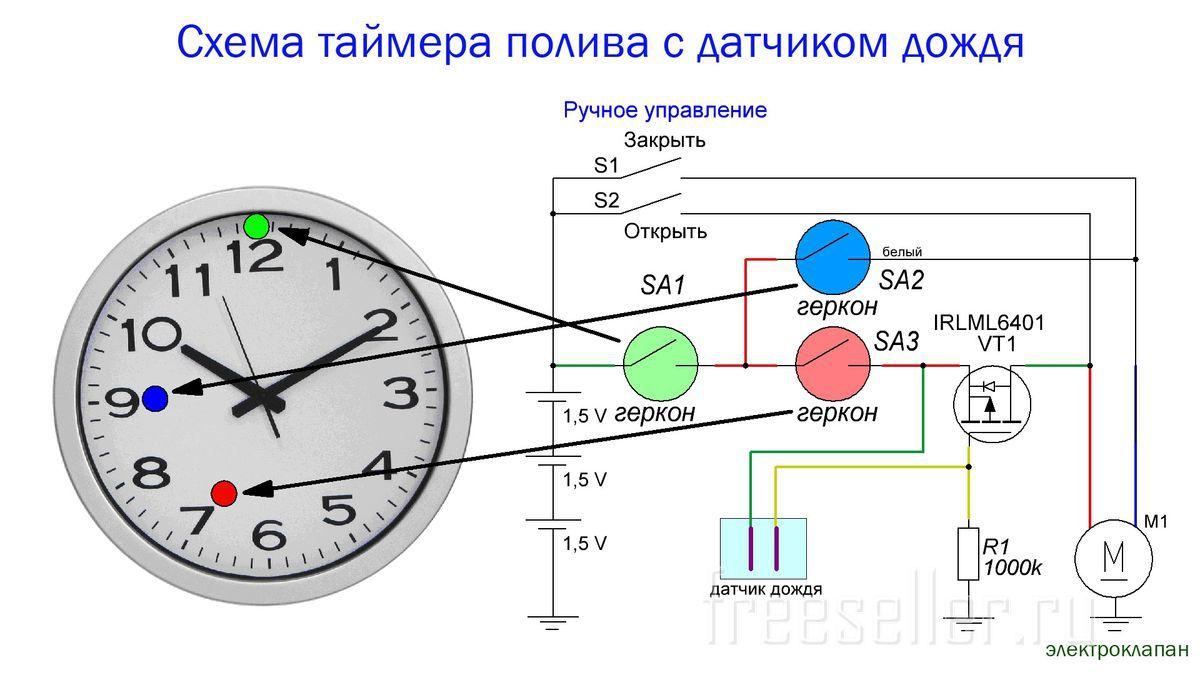 Схема простейшего датчика