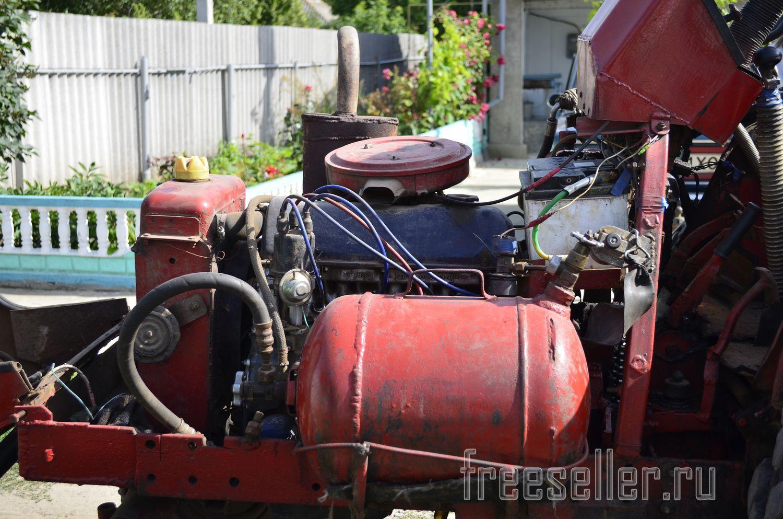 Самодельный трактор с коробкой от ваз