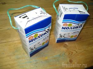 Контейнеры для переноски ягод из картонных молочных пакетов