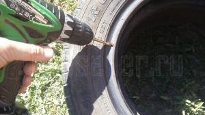 Самодельный пуфик из старых шин (покрышек)