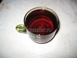 Витаминный напиток из веточек черной смородины