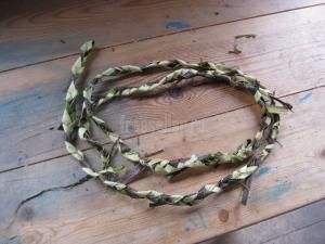 Веревка из древесной коры в походных условиях