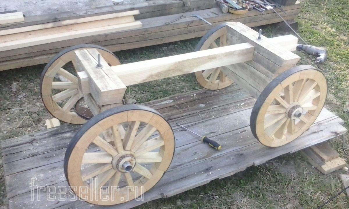 Как сделать деревянную телегу фото 81