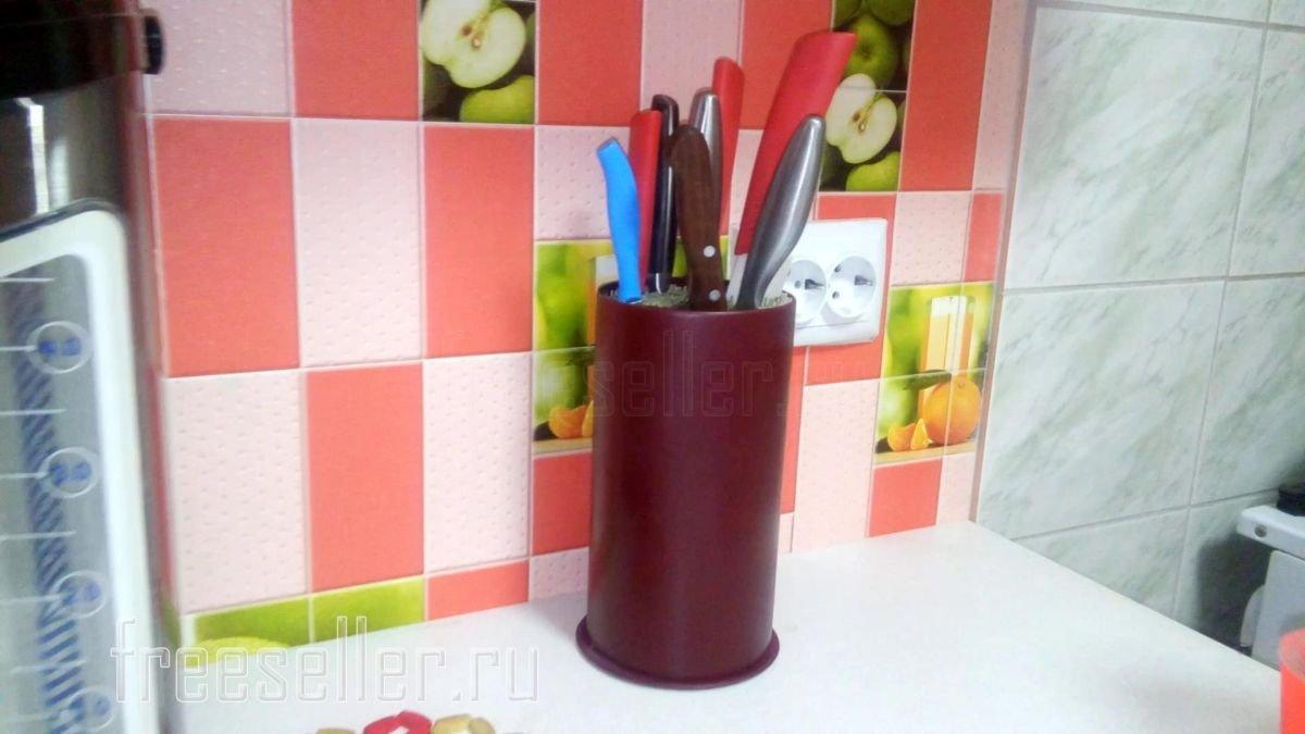 Подставка для ножей из подручных материалов