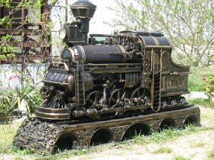 Мангал паровоз из газового баллона