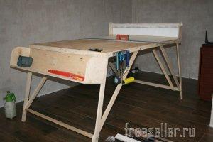 Самодельный разборный обойный стол