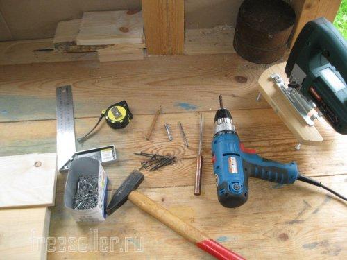 Необходимый инструмент для изготовления самодельного выдвижного ящика