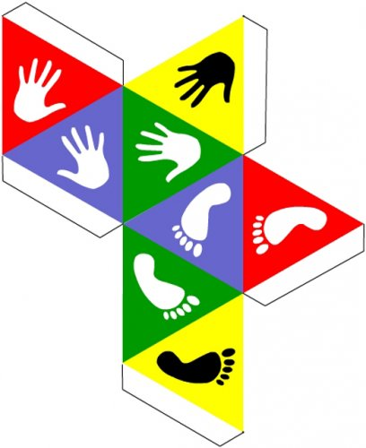 Кубик для игры в Твистер