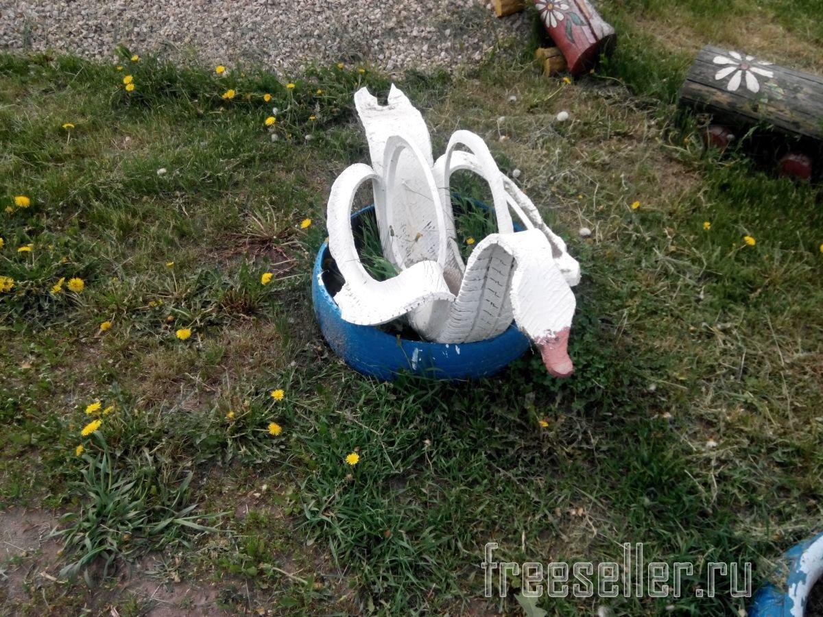 Как сделать лебедей из пластиковых бутылок пошаговое фото