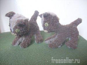 Мягкие игрушки своими руками - котята