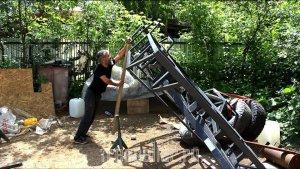 Лайфхак — Как в одиночку перевернуть 300 кг. Внедорожный туристический прицеп Navahi. — ч.2