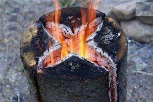 Печь из бревна - Финская свеча своими руками