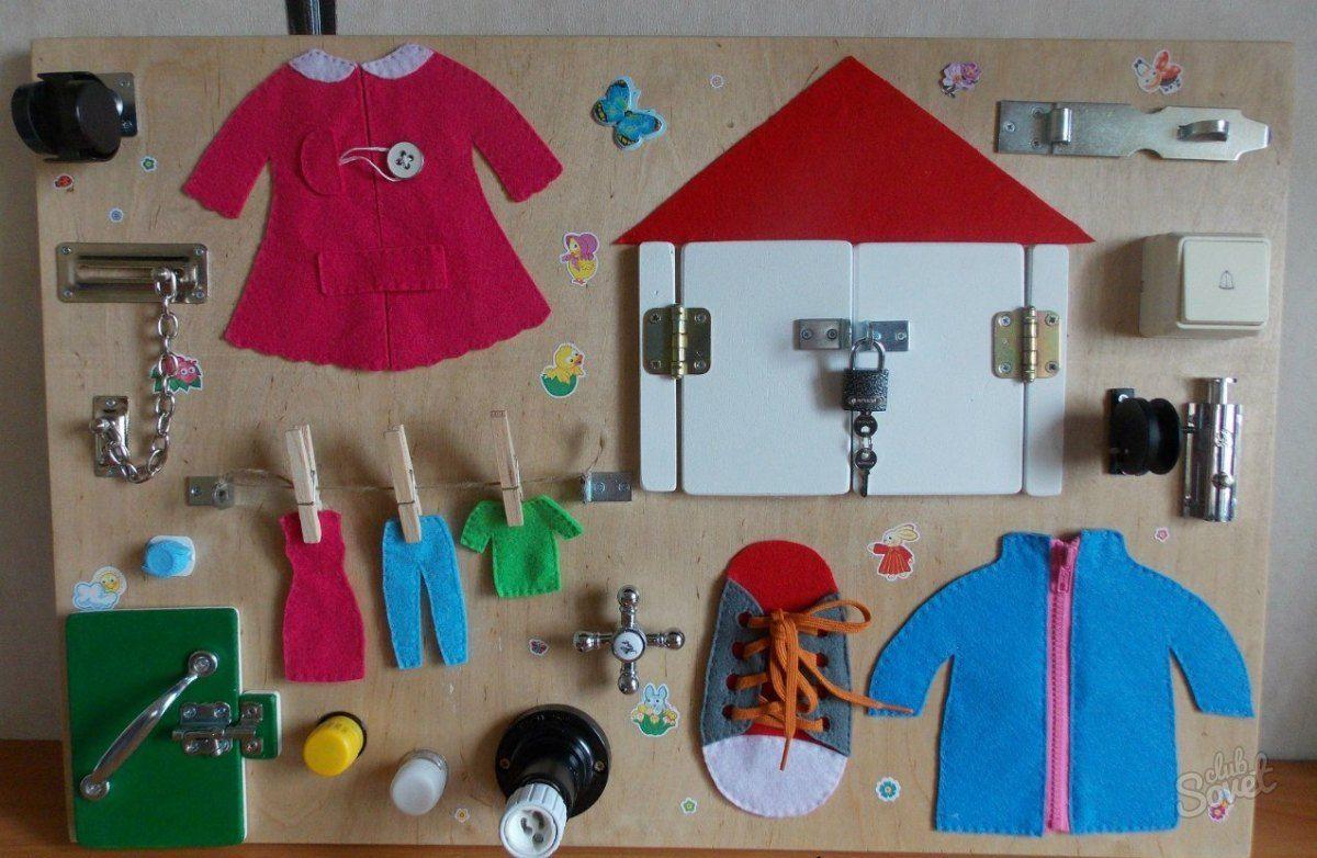 Сенсорная доска для ребенка своими руками