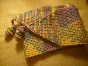 Вяжем детский шарфик с кудряшками