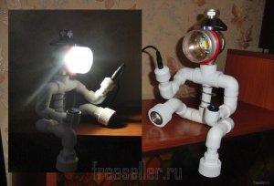 Светильник из полипропиленовых труб