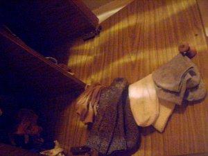 Вешалка для хранения носков в шкафу