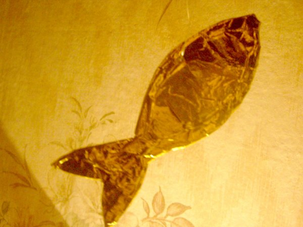Ёлочная игрушка Золотая рыбка своими руками