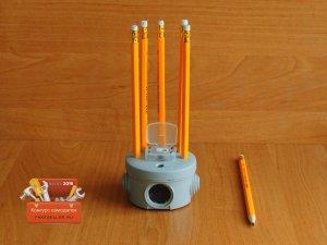 Точилка-подставка для карандашей своими руками