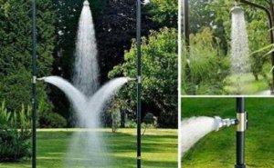 Дачный тропический душ из пластиковых труб